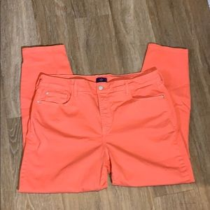 NYDJ Fall color orange ankle crops